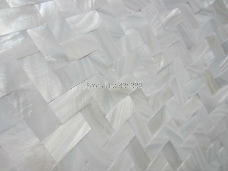 11 stks thuis mozaïeken tegels visgraat witte parelmoer tegel keuken