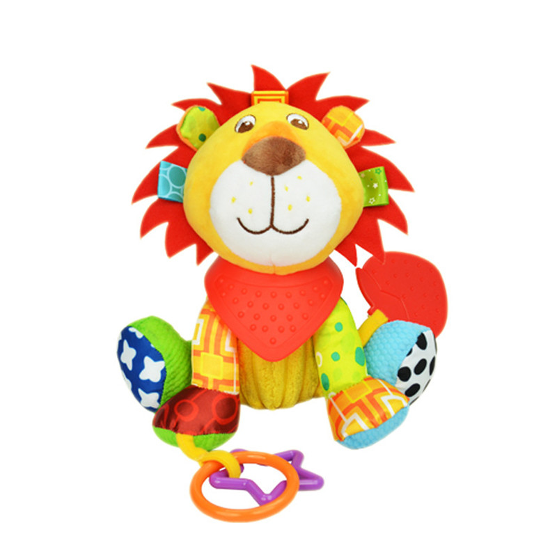 SOZZY New Baby Toys 0-12 Months Stuffed Stroller Toys For Newborns Mobility Pram Bed Hanging Plush Rattle Toys Doll Juguete