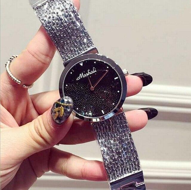 2017 New Arrival Women Watch!Luxury Fashion Crystal Women Bracelet Watch Female