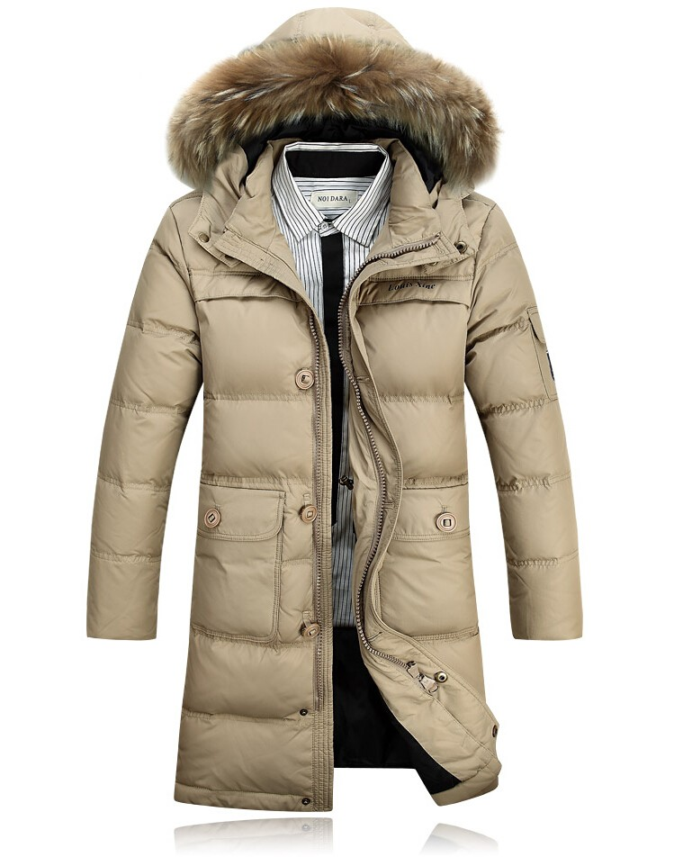 caa0363f4 Winter Jacket Men 90% White Duck Down Long Jackets Keep Warm Coat Casual  Men's thick Down Overcoat Jackets parka homme Brand New-in Down Jackets  from ...
