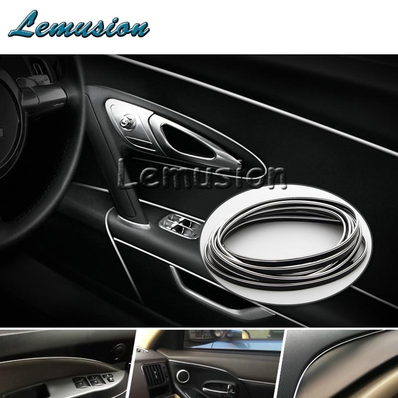 Car Interior PVC Decoration Moulding For Peugeot 307 206 308 407 207 2008 3008 508 406 208 For Citroen C4 C5 C3 C2 Accessories