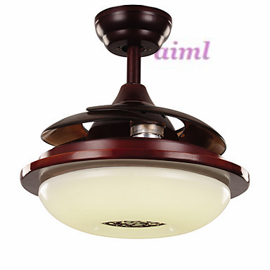 42inches 108cm Ceiling Fan Retro Country Nickel Feature for LED MetalLiving Room Bedroom Dining Room in Ceiling Fans from Lights Lighting