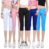 2017 Yaz Sıcak Satış Yeni Pantolon Kadın Buzağı uzunlukta Pantolon Orta Bel Seksi Rahat Kalem Pantolon Pantolon Ince Elastik pantolon Tayt