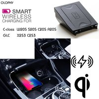 OLOPKY For Mercedes BenZ QI Wireless charging Hidden Wireless charger Phone Holder For Class C GLC W205 S205 C205 A205 X253 C253