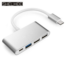 4-in-1 USB-C Hub with Type C, USB 3.0 Ports for New Apple MacBook 12 / New MacBook Pro 13 15 / ChromeBook Pixel and More цена