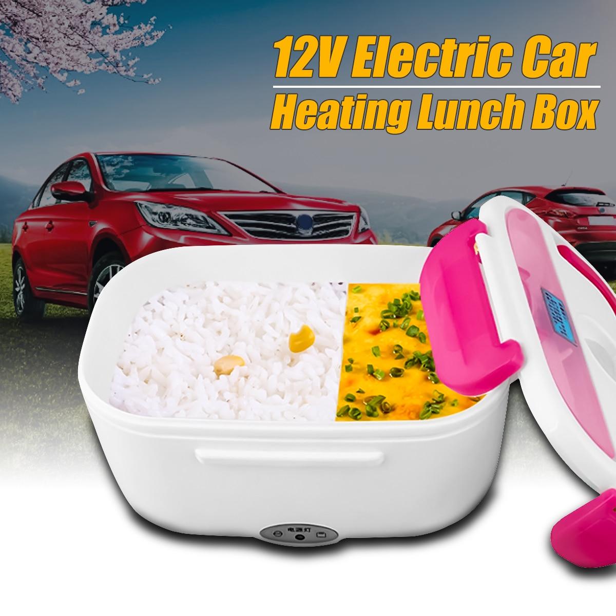 1.05L 12 V coche portátil de calefacción eléctrica de la caja de almuerzo caliente olla de arroz Multi funcional macho contenedor de alimentos Bento caliente sello cubiertos