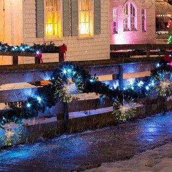 300 LED Perde Aydınlatma Dize Patlama Lambası Su Geçirmez Gece Lambası Için Abd/ab/İngiltere Tak