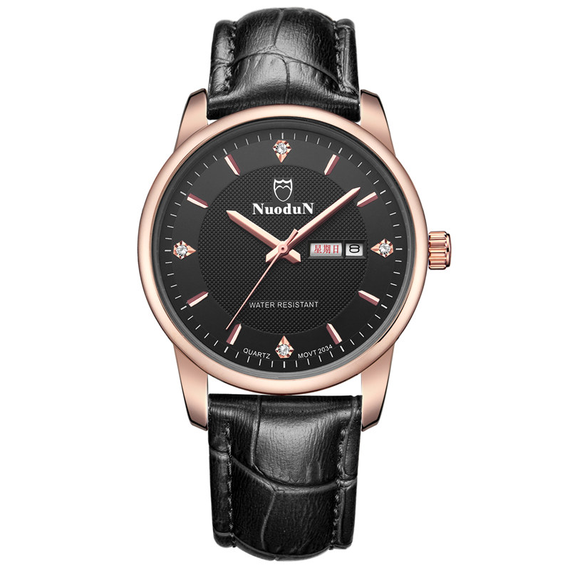 Luxury Watch Men Quartz Watch Water Resistant Week Display Mens Brown Leather Band Mens Watches Orologio