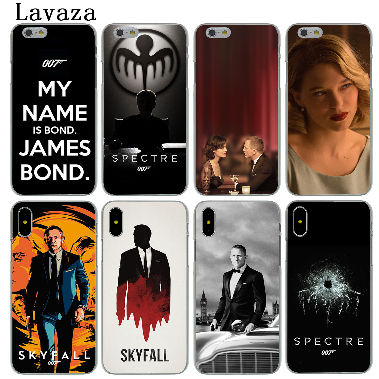 06a22bae3ab Lavaza 007 Spectre James Bond Skyfall Hard Phone Case for Apple iPhone X XS  Max XR 6 6S 7 8 Plus 5 5S SE 5C 4S 10 Cover Cases-in Half-wrapped Case from  ...