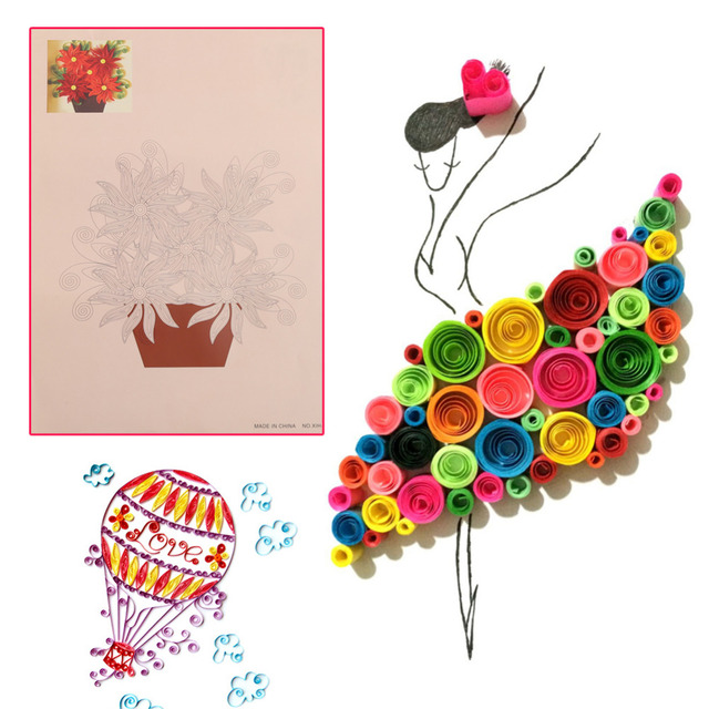 8 Pcs 16 Pattern Quilling Tool Diy Release Drawing Locating Paper