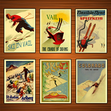 Vintage deportes de esquí póster de viaje St. Anton Nieves lienzos clásicos pinturas de pared carteles pegatinas decoración del hogar regalo