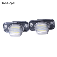 2X led for Volkswagen VW T4 Jetta Passat Canbus LED License plate lights auto light car accessories car-styling