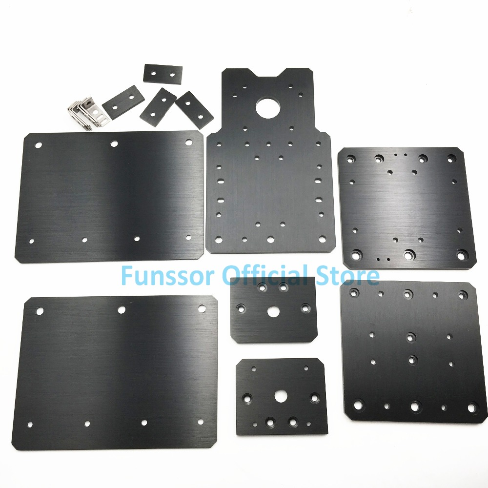 Funssor Workbee CNC aluminum Plate Sets CLead Screw Driven) for Workbee CNC router parts workbee cnc aluminum plates kit lead screw driven and belt version for workbee cnc router machine cnc engraving machine