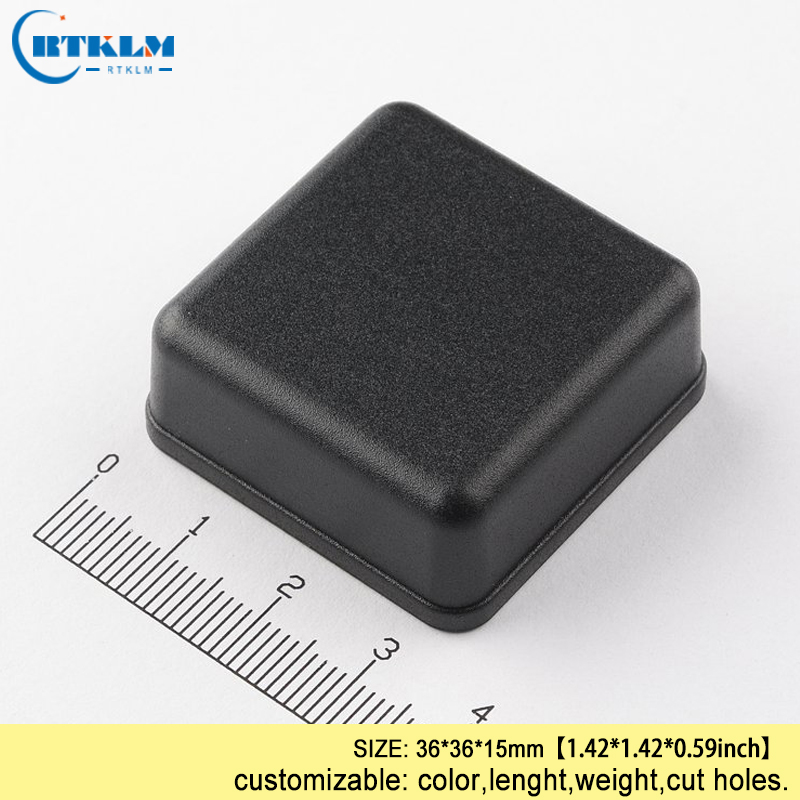 Black Plastic Enclosure Diy Housing For Electronic PCB 36*36*15mm Diy Design Wire Connection Box Abs Project Junction Enclosure