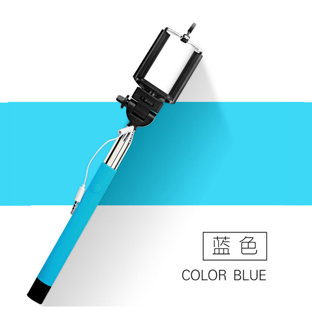 22-100cm Portable Extendable Handheld Monopod Audio Cable Wired Palo Selfie Stick Self-Pole Artifact For Iphone Samsung Android