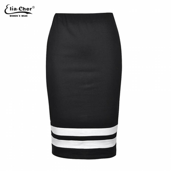 Προσφορά! Γυναικεία Casual Φούστα άσπρο -μαύρο ef2bbd5df0e