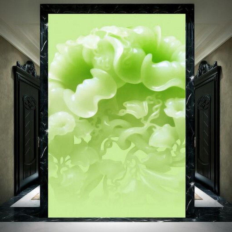 US $9 15 39% OFF beibehang Large Custom Wallpaper Emerald Jade Carving  Theme Wall Decorative Paintingpapel de parede 3d para quarto -in Wallpapers