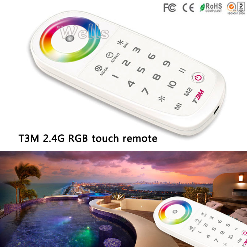 led controller T3-5A T3-CV T3-CC Receiver ;T3M T3X 2.4G wiress Remote for RGB LED Strip led Panel light matrix t3x