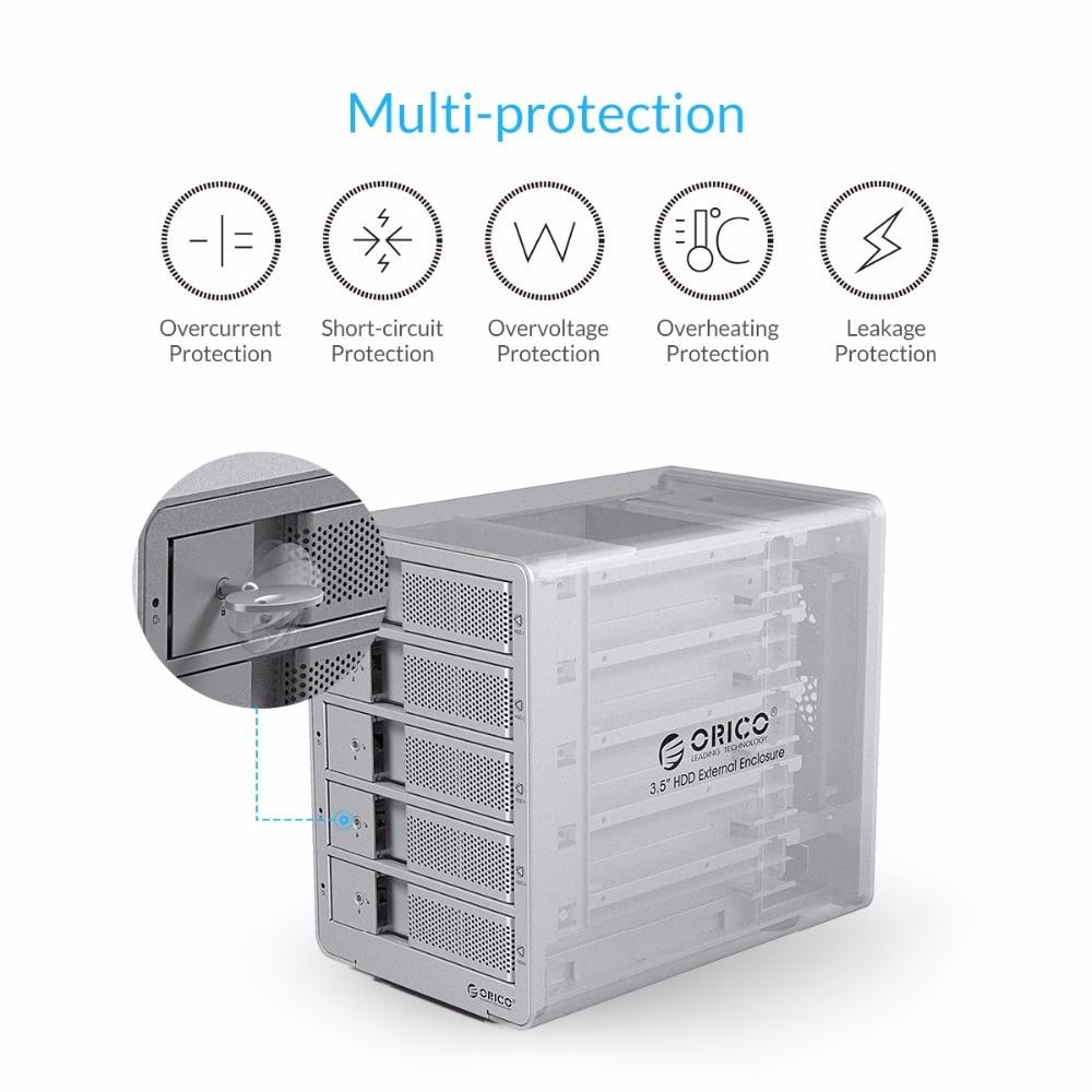ORICO 9558U3 գործիք անվճար ալյումինե USB 3.0 5 - Արտաքին պահեստավորման սարքեր - Լուսանկար 6