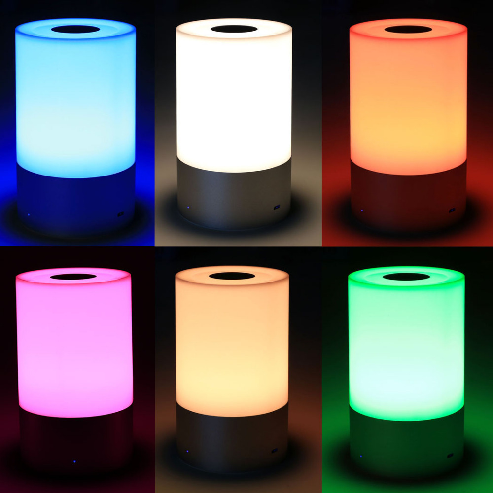Wireless Led Table Lamp Touch Sensor Control Dimmable Rgb