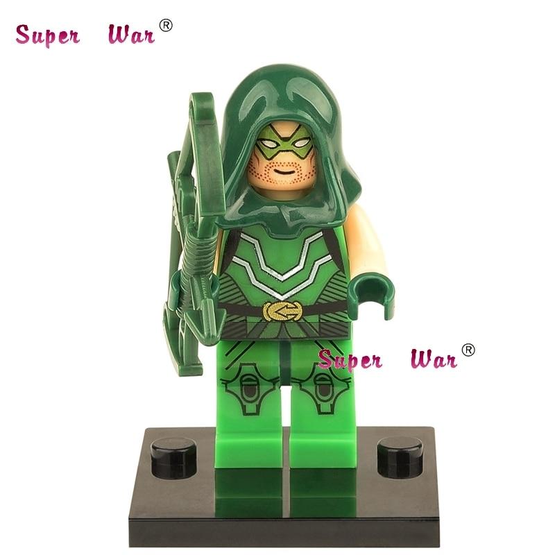 50pcs superhero Green Arrow building blocks action bricks friends for girl boy house games kids children