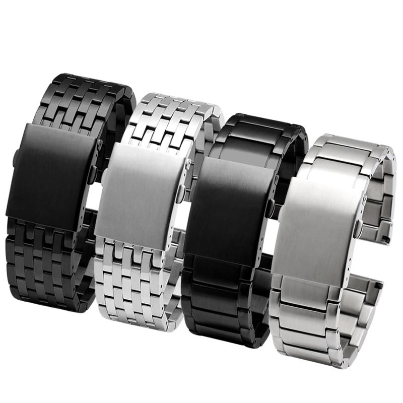 Stainless Steel Bracelet Solid Metal Strap For DZ4316 DZ7395 DZ7305 Watchband 24mm 26mm 28mm 30mm Men Wristwatches Band
