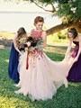 Романтический страна свадебные ветер красный свадебное платье аппликации рукавов тюль длинное платье свадебное платье платья