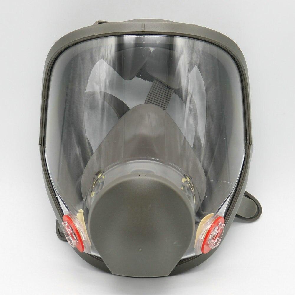 ộộ Için 6800 Silikon Gaz Maskesi Tam Yüz Yüz Parçası Maske
