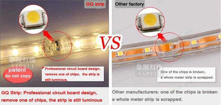 Սուպեր պայծառ 5050 LED շերտի շերտով110V- 120 - LED լուսավորություն - Լուսանկար 4