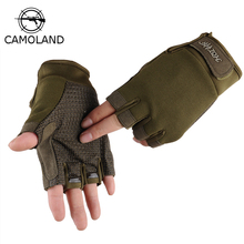 Outdoor Sports Anti-Slip Tactical Semi-Finger Gloves Thin Riding Exercise Gloves