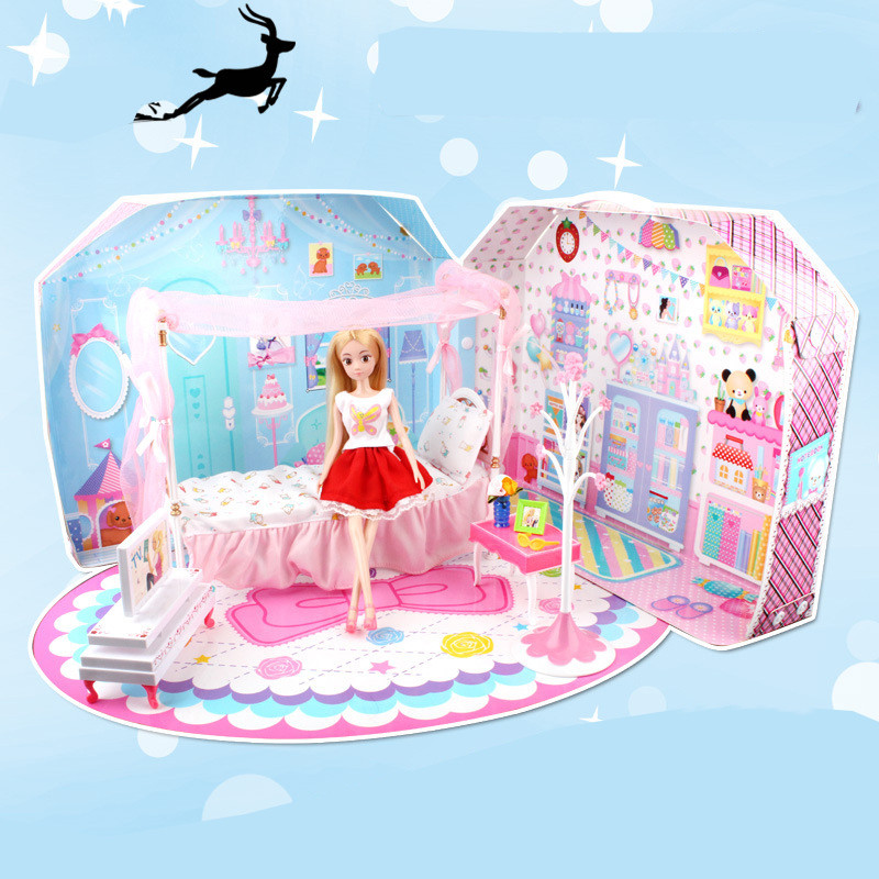 Aliexpress.com : Buy Free Shipping Bedroom Set Miniature Dollhouse ...