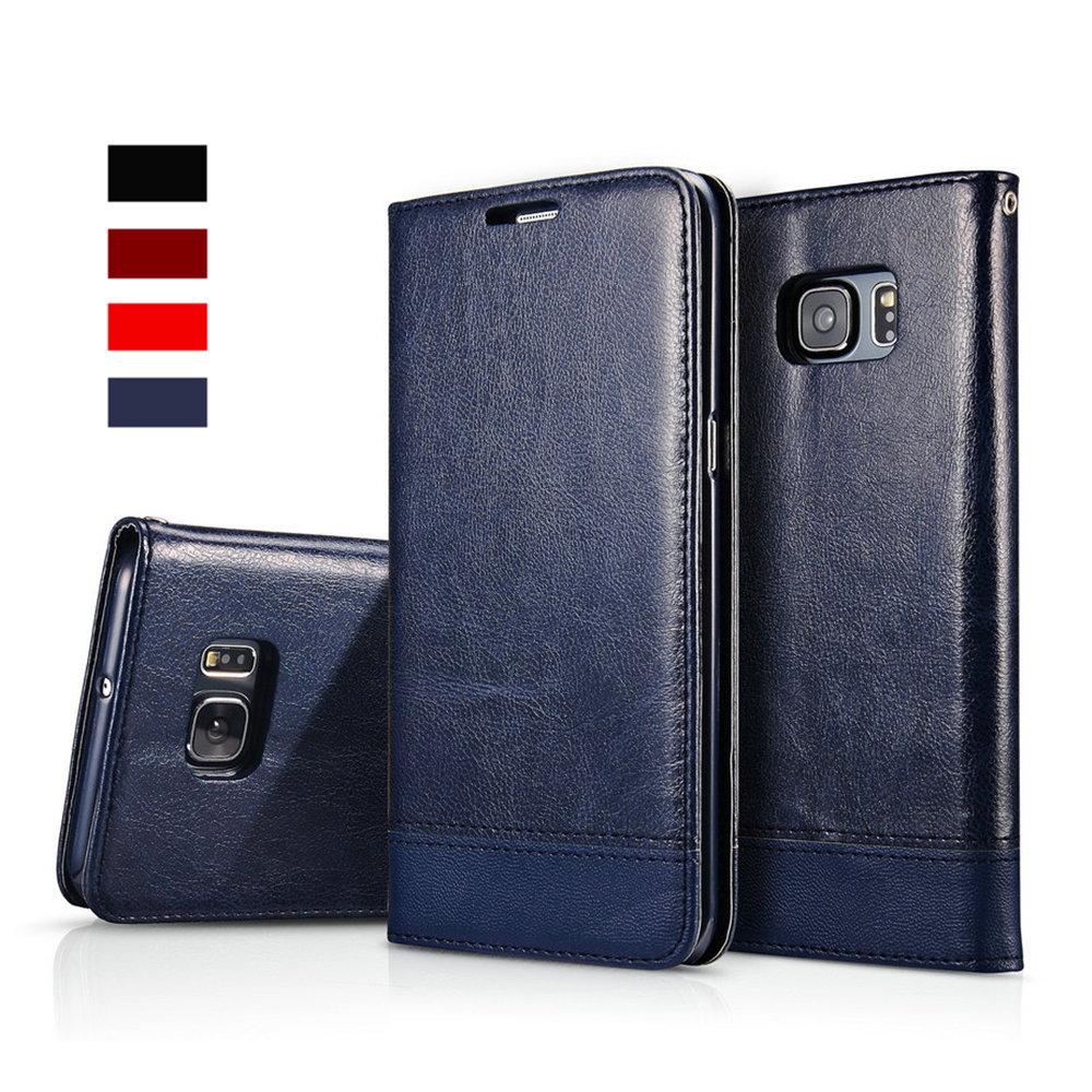 For Samsung Galaxy S6 S7 Edge Case Cover Classic Wallet Flip Case Cover Samsung S8 S9 Plus Coque Fundas Capa PU Leather
