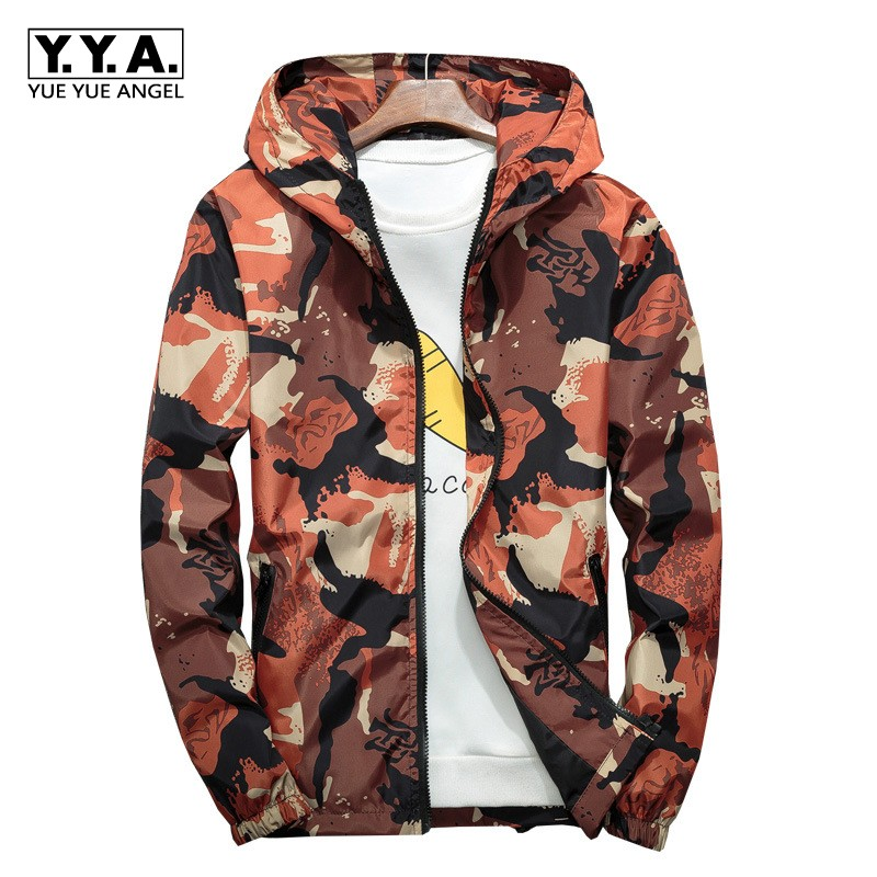 Homme Outwear 3 2019 Camouflage Zippée Poche Nouveauté Taille D'impression 4 Grande 1 De Manteaux À Veste Décontracté Mode 2 Lâche Sweat Capuche 5FF4gqw7