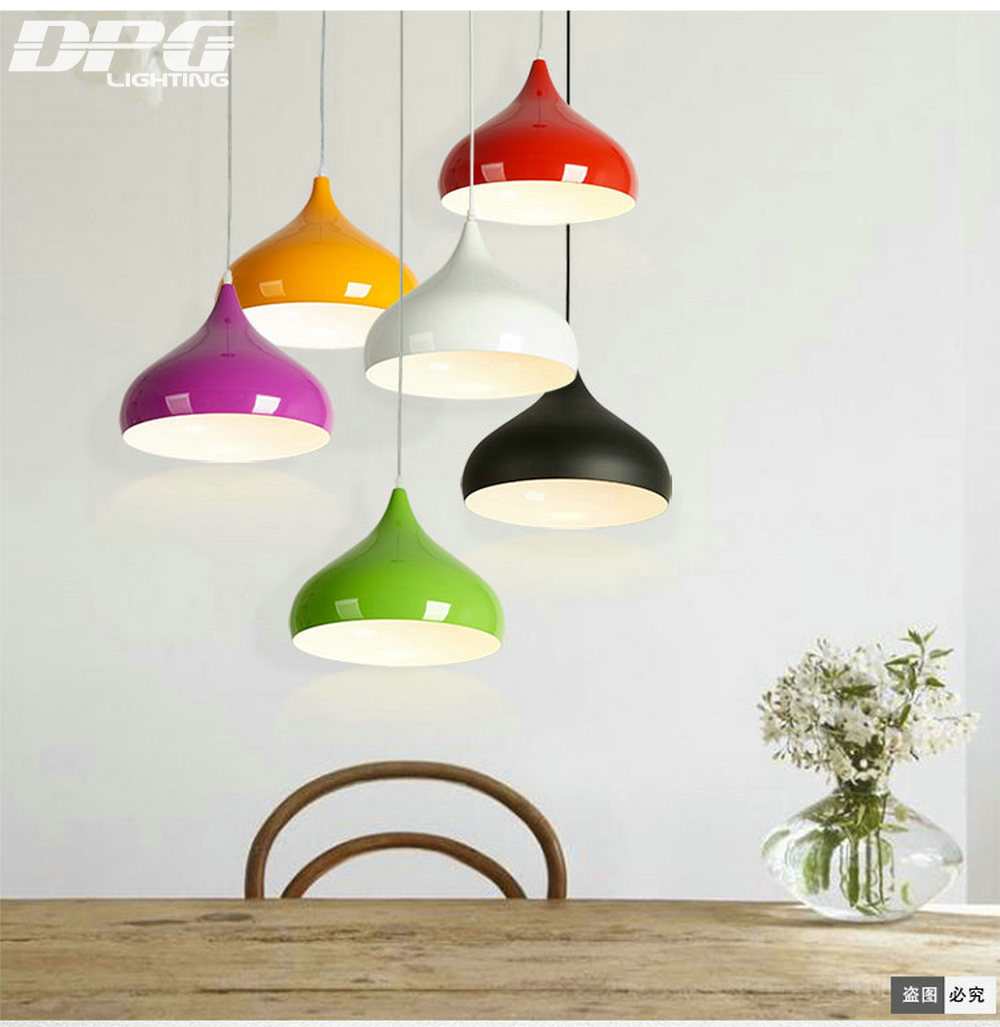 Modern green black kitchen led hanging lamp pendant lights fixtures e27 110v 220v lighting for decor dining room restaurant