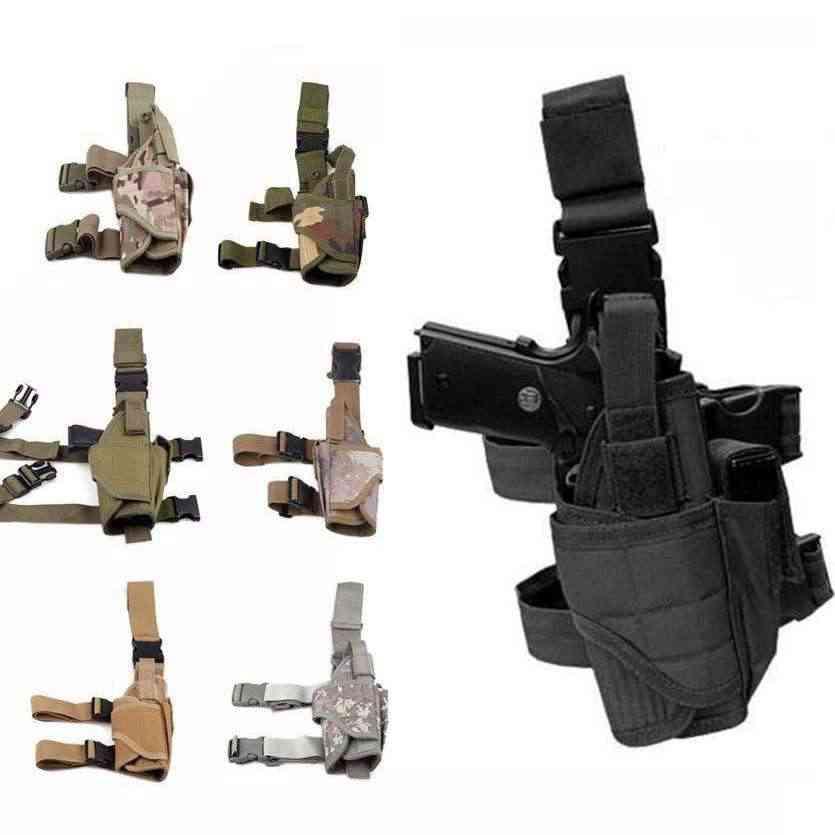 Tactische Tornado Been Holster Glock Airsoft Pistool Drop Leg Holster Pouch Verstelbare Magic Strap Holster Voor Universal Gun