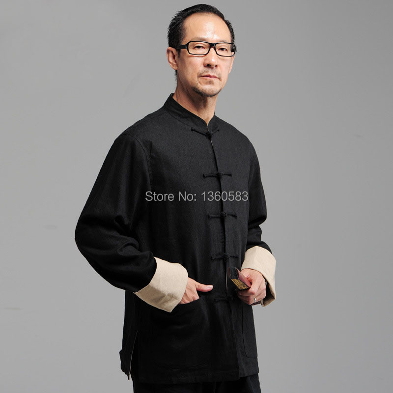 Black Traditional Chinese Men's Kung Fu Reversible Jacket blue Wing Chun Two-Face Linen Coat Tang Suit Cotton Outerwear S-XXXXL комплектующие для косметических приборов chun can 20 12