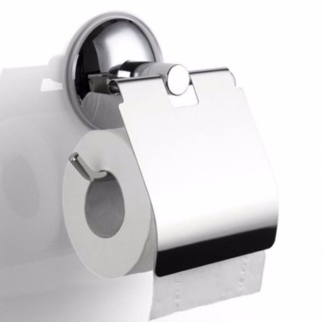1pc Bathroom Toilet Roll Paper Holder Vacuum Suction Cup Paper Holder Stainless Steel Wall Mounting Mayitr Bathroom Fixture