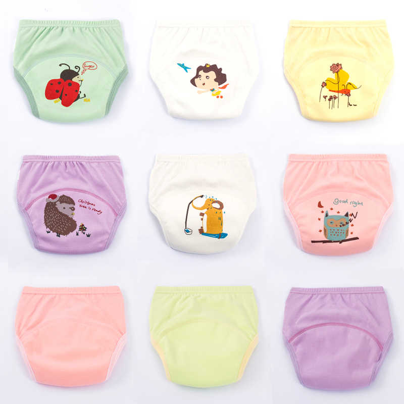 78334e683 Soft Cotton Baby Diapers Reusable Nappies Cloth Baby Training Panties  Toddle Boys Underwear Unisex Durable Cartoon