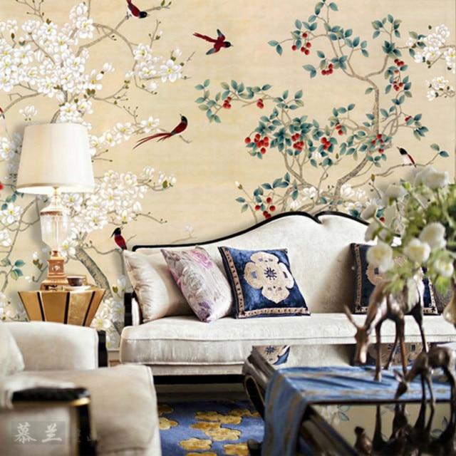 3D wallpaper for wall 3d murals wallpaper for Large living room sofa bedroom TV background  wallpaper Meticulous Classical bird