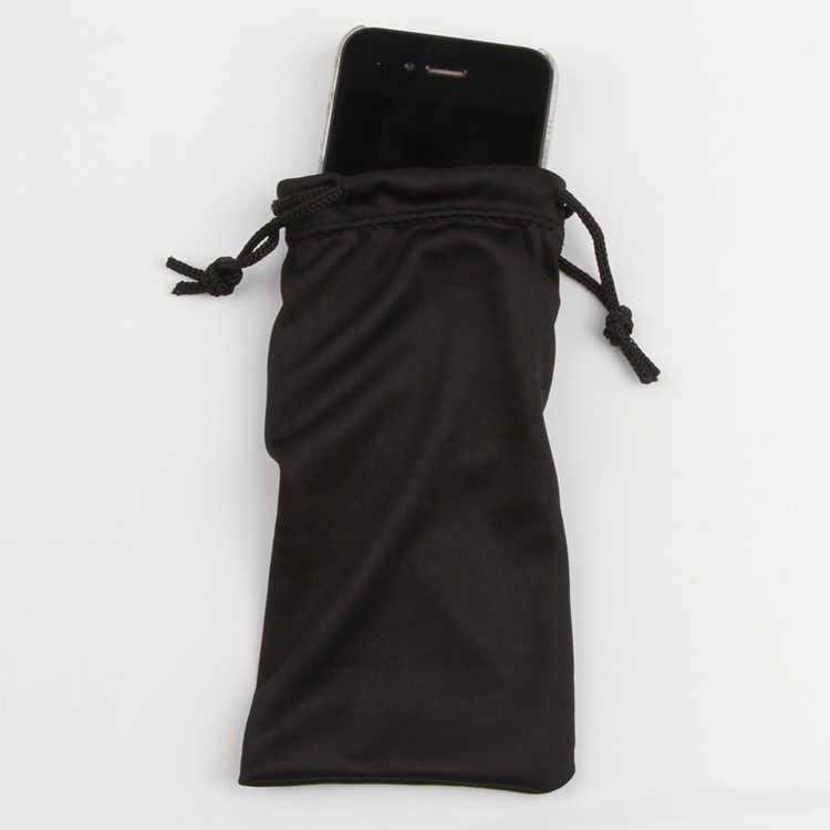 1ピースポリエステルポーチ用サングラスmp3柔らかい布ダストポーチ光学メガネキャリーバッグドロップシッピング