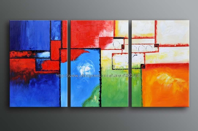 Huge modern abstract oil painting canvas contemporary art for Decor contemporain moderne