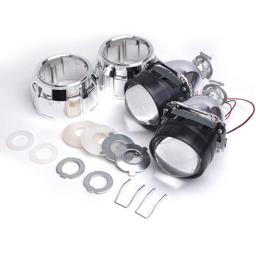 2 pièces bixenon lentille avec Carénage 2.5 pouces lentille de projecteur pour H4 H7 Bi xénon bi-xénon lentille H1, H11, 9005,9006 voiture caché phare