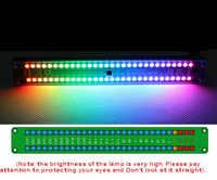 Doble 30 colorido Color audio LED indicador de nivel medidor de VU con panel de música espectro W control remoto para amplificador de coche