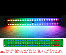 Dual 30 Colorful Color LED Audio Level Indicator Panel VU Meter Music Spectrum W Remote control For CAR Amplifer