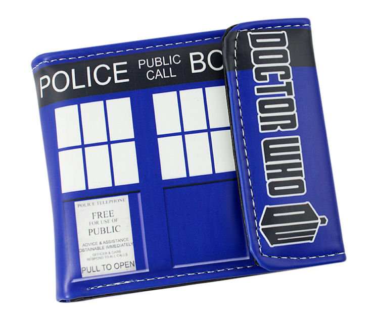 Doctor Who Wallet police box Cosplay Anime Woman&Man Purses doctor who dr twelfth roger hargreaves