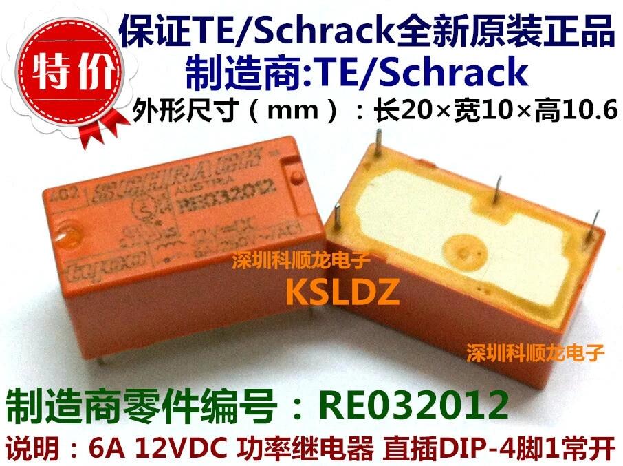 Tyco//Schrack !!! f02 rt423012 relé 12v 2 conmutador 6 St