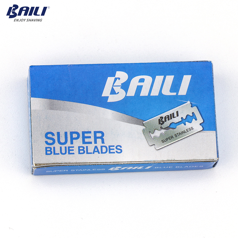 Image 4 - BAILI 200 Pcs/Lot Super Blue Safety Razor Blades Double Edge Shaver Beard Hair Shaving Blades for Men Face Personal Care BP005-in Razor from Beauty & Health