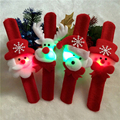 4pcs Christmas Decorations Family Party Applauded Gift Toy Santa Snowman Deer Circle Put On Hand Or Hair For Children And Adult