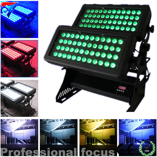 96pcs 10w bright led city color IP65 waterproof led wash light outdoor lighting стоимость