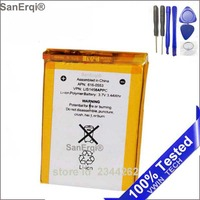 SanErqi 10pcs / Lot For iPod Touch 4 4th Generation 4 4g battery new battery for ipod touch 4 Replacement with Repair Tools